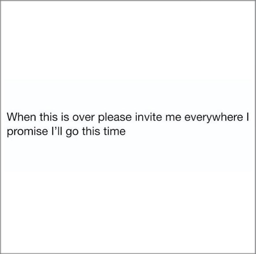 social distancing for an introvert vs an extrovert